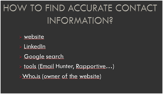 how to find accurate contact information picture